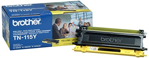 Brother TN115Y (Yellow) Toner Cartridge, High Yield: 4000 pages