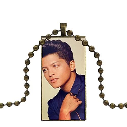 WEIMING Bruno Mars Moonshine Jungle Tour Joyería Vintage Color Bronce Cabujón de...