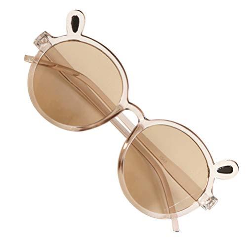 KESYOO Crianças óculos de Sol Polarizados Crianças óculos de Festa Anti Nevoeiro óculos de Proteção Uv óculos de Plástico Protetor de Olho para O Verão Crianças óculos Foto Prop Marrom
