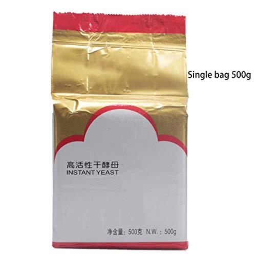 DENGHENG 500 g Brot Soforthefe aktiv trocken hohe Glukose-Toleranz Backzubehör aktiv trockene Hefen Backen Brothefe