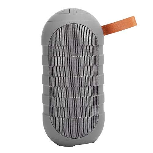 Socobeta Caja de altavoz Altavoz inalámbrico Mini Multifuncional Durable Bluetooth Reducción de ruido (gris)