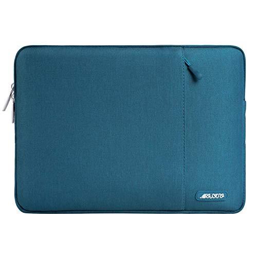 MOSISO Laptop Sleeve Hülle Kompatibel mit MacBook Air 11, 11.6-12.3 inch Acer Chromebook R11/HP Stream/Samsung/ASUS/Surface Pro X/7/6/5/4/3, Polyester Vertikale Stil Laptoptasche, Deep Teal