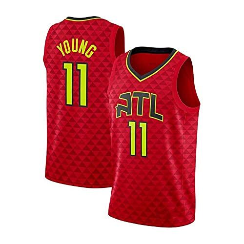 WEIZI Atlanta Hawks Young #11 Retro Camiseta de Jugador de Básquetbol Bordado Transpirable Resistente al Desgaste Camiseta de Fan de Hombres(Tamaño: S-XXL)
