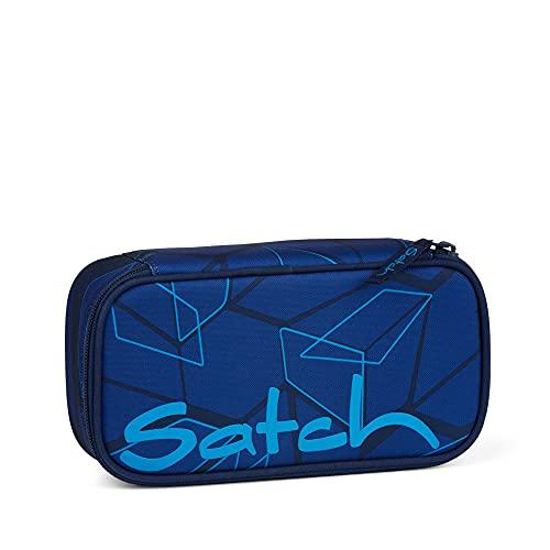 Satch Schlamperbox - Mäppchen groß, Trennfach, Geodreieck - Next Level - Blau, einheitsgröße
