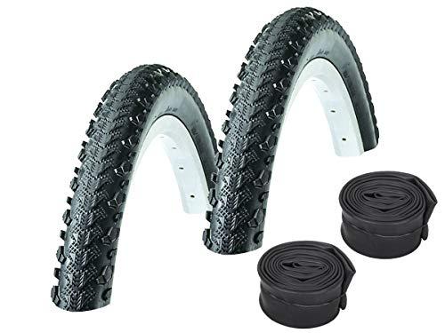 KENDA Set: 2 x Kobra K885 Fahrradreifen MTB SEMI-Slick 50-559 / 26x2.00 + Conti SCHLÄUCHE Autoventil