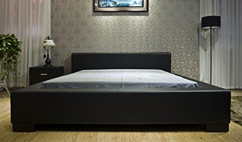 Greatime B1142 Eastern King Black Modern Platform Bed