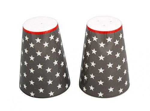 Krasilnikoff Salz & Pfeffer Streuer Sterne dunkelgrau