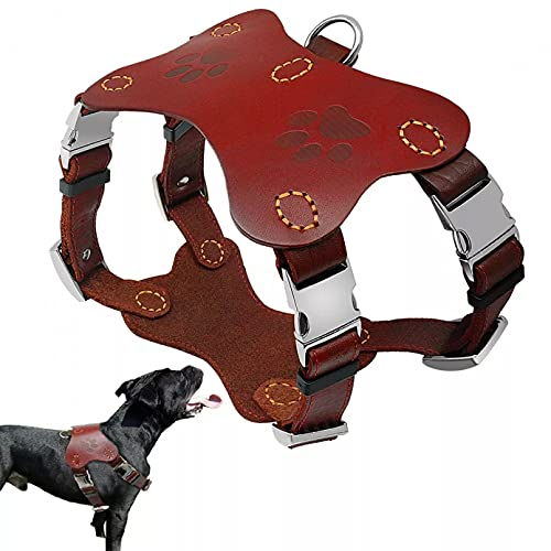 MDKAZ Arnés para Perros Pitbull Terrier Collares Arneses Chaleco Hraness para Perros Grandes Arneses Entrenamiento para Perros Golden Retriever Regalo para Mascotas-XL,X-Large