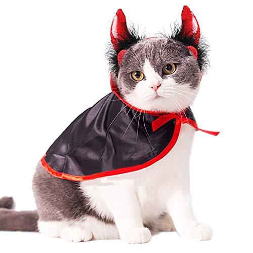 Legendog Costume del Gatto, Costumi dell'animale Domestico di Halloween Capo del Mantello del Vampiro Sveglio di Cosplay per i Gatti dei Piccoli Cani
