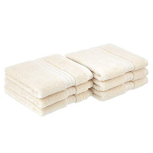 Amazon Basics Luxury Performance Washcloths  6Pack Eggshell Yellow