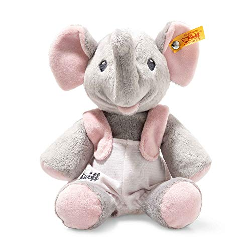 Steiff 241666 Trampili Stoffspielzeug Elefant 24, grau/rosa