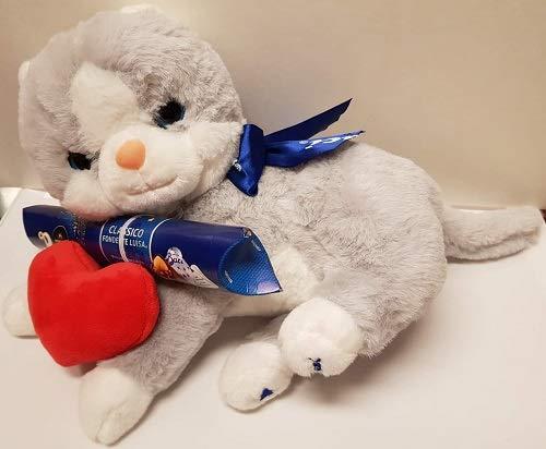 gatto peluche con tubo classico fondente luisa baci perugina san valentino 100 gr