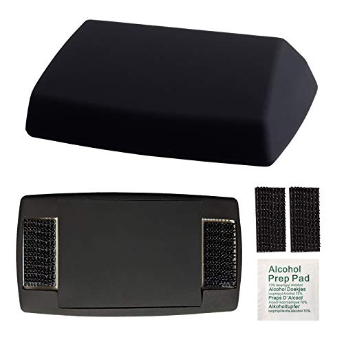 EZ SKIN Bundle: Silicone Skin for EZ Pass + Silicone Pad to Cover the Back + Black Interlocking Strips + Alcohol Prep Pad = Discreet Look INSIDE & OUTSIDE Your Car! (Fits EZ Pass Mini, Latest Version)