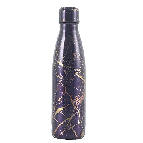 Yumanluo Cantimplora Termo con Doble Aislamient,Botella de Cola al vacío Deportes al Aire Libre Taza de Agua-F,Botella de Agua Acero Inoxidable