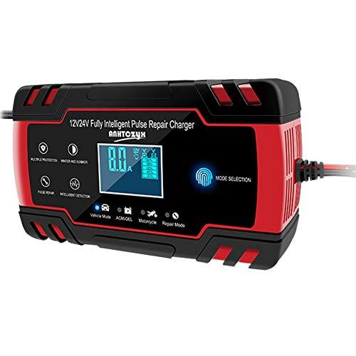 Heritan Coche Arrancador de Salto de Emergencia 12V/24V Banco de EnergíA Cargador de BateríA con Pantalla LCD Enchufe de la UE