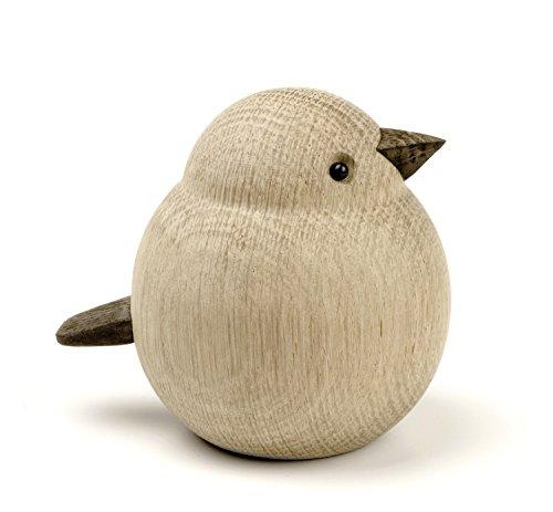 Novoform Design - Mama Sparrow - Dekofigur, Holzfigur - Spatz - Eichenholz - Maße (LxBxH): 9 x 7,3 x 8 cm