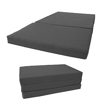 D&D Futon Furniture Shikibuton Tri Fold Foam Beds Tri-Fold Bed High Density 1.8 lbs Foam Twin Size Full Queen Folding Mattresses  Full Size 4x54x75 Gray
