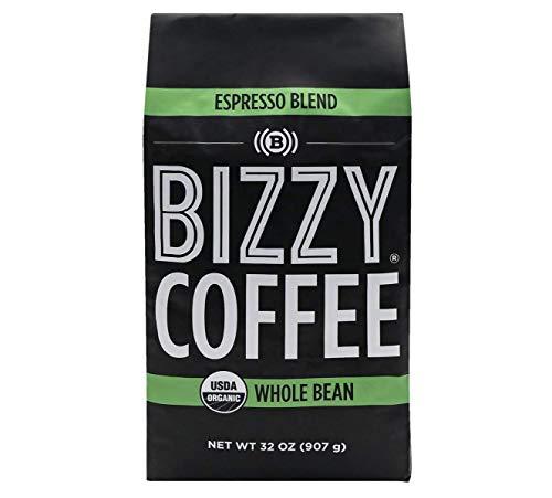 Bizzy Organic Coffee   Espresso Blend   Whole Bean   2 lbs