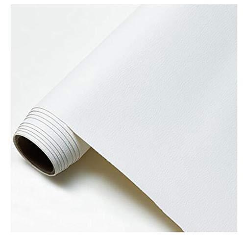 GERYUXA Piel para tapizarVenta De Polipiel por Metros Tejido De Piel SintéTica porTapizar,Polipiel,Manualidades,Vinilo,Cojines o Forrar -Blanco t6 1.6x1m