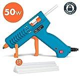 Hot Glue Gun, Tilswall 50W Mini Hot Melt Glue Gun with 12pcs Glue Sticks, High Temperature Anti-drip Melting Glue Gun...