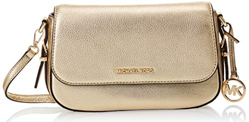 Made of Leather; Flap closure; 2 interior slip pockets and 6 credit card slots; 1 slip pocket Silhouette is based off 5 feet 9 Inches model; 23 Inches adjustable strap Gold-tone exterior hardware Measurements: Length: 9.25 x Height: 6.5 x Width: 2.5 ...