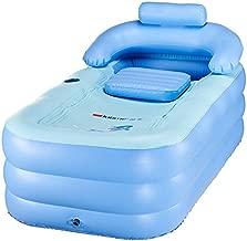 Blowup Inflatable Adult Family Spa Folding Foldable Portable Warm Bathtub Bath Bathroom Foot Air Pump PVC