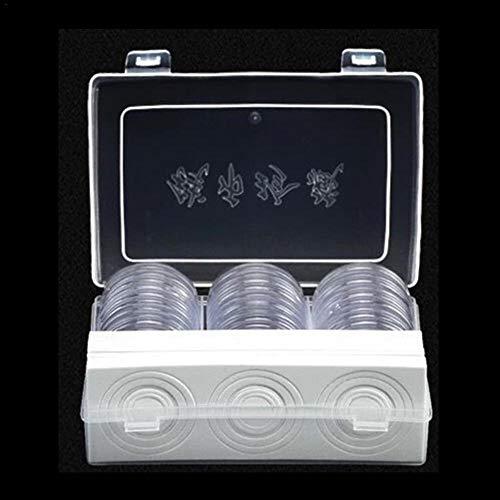 Cápsulas De Monedas De 46mm Y 7 Tamaños (17 / 20.5 / 25/27/30/32/40 Mm) Estuche Para Monedas De Protección Con Caja De Organizador De Almacenamiento Para Suministros De Recolección De Monedas (30)