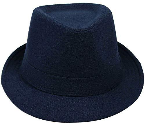Simplicity Unisex Fedora Hats for Women Manhattan Fedora Hat, Navy