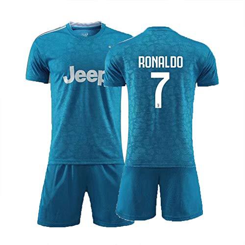 7# Ronaldo voetbal jersey pak voor kinderen unisex trainingshemden heren short wit pak Athlete's Jersey fan's sweatshirt, kindergeschenk