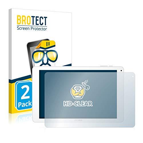 BROTECT Schutzfolie kompatibel mit Archos 101 Platinum 3G (2 Stück) klare Bildschirmschutz-Folie