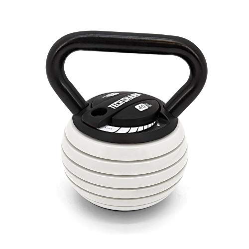TRUNYAQI 10-40LBS Kettlebell Weights Set, Adjustable Kettle Bells Weight Sets for Men Women Strength Training Exercise, 10 15 20 25 30 35 40 lbs Kettlebells, Home Fitness Gym Equipment,Black+Red