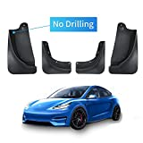 Carwiner Mud Flaps for Tesla Model Y Splash Guards No Need to Drill Holes Fender Mud Guard ABS Accessories (Set of 4)