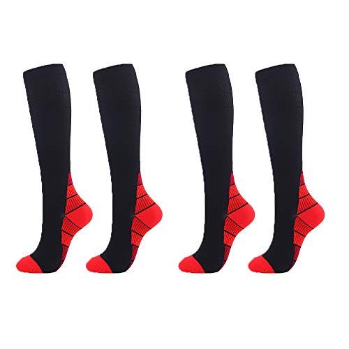 Calcetines de compresión para mujeres y hombres perfectamente transpirables, potentes absorbentes de humedad, mejora la circulación, acelera la recuperación muscular (2 pares)