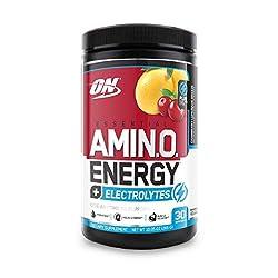 Optimum Nutrition Essential Amino Energy + Electrolytes, Cranberry Lemonade Breeze, Keto Friendly BC