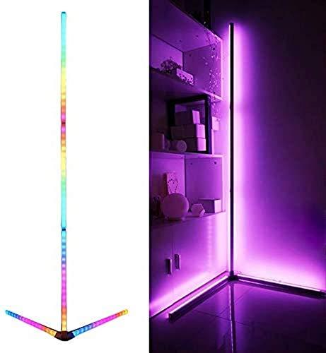 N/Z Equipo para el hogar Lámpara de pie de Esquina Decoración nórdica Luz de Esquina para el hogar Control Remoto RGB Decoloración Lámpara de pie Luz de pie para Sala de Estar Dormitorio Oficina