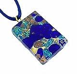 Lámpara de techo de cristal Murano - Millefiori a presión dorado, 3 cm x 2 cm en caja regalo - (zorro a caballo)