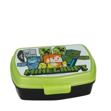 ILS I LOVE SHOPPING Contenitore Termico Porta merenda Scatola Sandwich Box per Bambini (Minecraft)