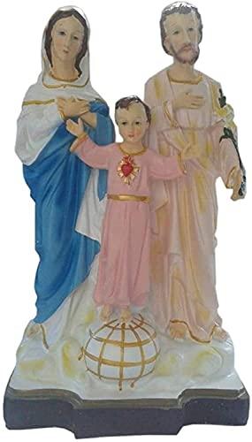 Muyuuu Escultura de Escritorio Estatua de Cristo Jesús, Virgen María Escultura Católica Católica Figura de Nacimiento Jesús COLECCIÓN Religiosa COLECCIÓN Memoria Decorativo Statuette