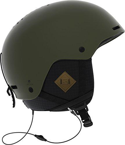 SALOMON Brigade Casco de esquí y Snowboard para Hombre, con Sistema de Audio, Carcasa ABS, Tecnología Smart, Circunferencia: 53-56 cm, Verde (Olive Night), Talla S