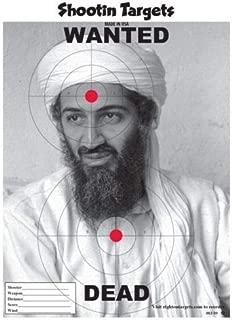 (GG) Target 25 Osama Bin Laden Paper Shooting Targets (11X15)