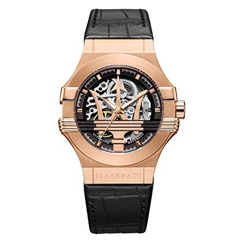 Reloj para Hombre, Colección Potenza, Movimiento mecánico automático, Solo Tiempo, en Acero y Cuero - R8821108002