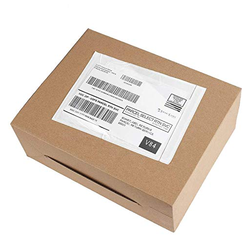 Metronic 7.5x5.5 100PCS Clear Self-Adhesive Packing List Envelopes for Invoice Shipping Label Mailing Bags
