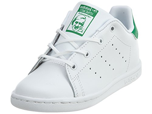 adidas Originals Kid's Stan Smith I Athletic Shoe, FTWR White/FTWR White/Green, 7K M US Infant