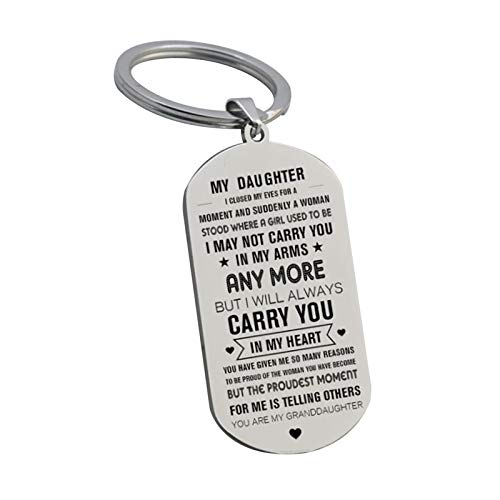 Rainai Inspirational Gift to Son From Mom-Never Forget How Much i Love You-Mother to Son Daughter Birthday Graduation Gifts Keychain for Teen Boy Girls