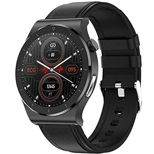 APCHY Smart Watch Reloj Inteligente,1.3'Tracker Fitness Fitness Full Touch con ECG + PPG Temperatura Corporal De Frecuencia Cardíaca Y Monitor De Suspensión, Rastreador De Actividades,C