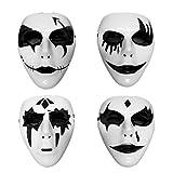 LLWGNZM Masque-4 PCS Halloween Masque Horrible Visage Complet Mascarade Masque Parti Masque Partie Prop pour Mascarade Cosplay, 4pcs comme Le Montre