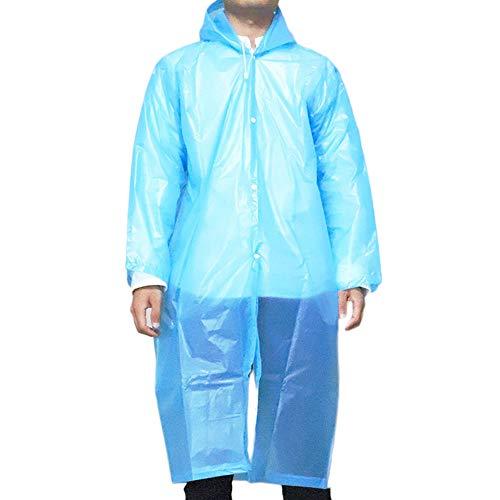 G&F Adulte Réutilisable EVA Imperméable Poncho avec Capuche Et Manches pour Camping en Plein Air À Propos 135 G (Color : Blue)