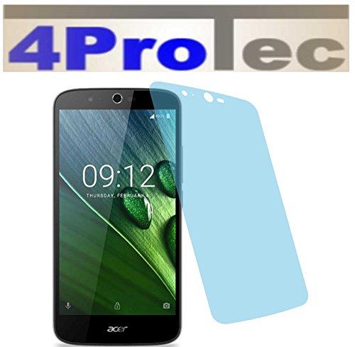 4ProTec I 4X Crystal Clear klar Schutzfolie für Acer Liquid Zest Plus Premium Bildschirmschutzfolie Displayschutzfolie Schutzhülle Bildschirmschutz Bildschirmfolie Folie