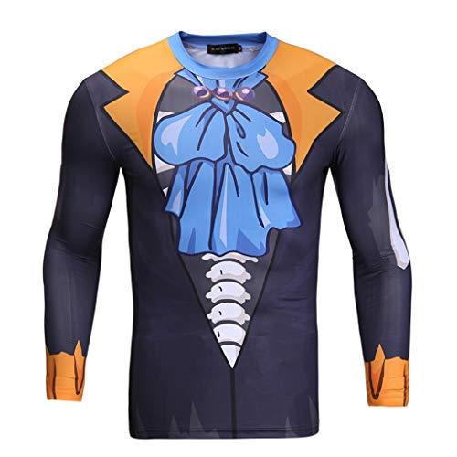One Piece Brook Cosplay Schnell trocknend Sweat-saugfähig atmungsaktiv Sporthose (Size : M)