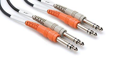 Hosa CSS202 Dual Kabel (6,3mm TRS-Beidseitig 2m)